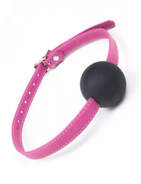 Joanna Angel Ball Gag Small Pink Black O/S