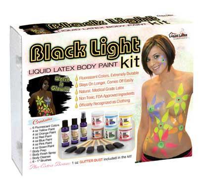 Liquid Latex Black Light Kit