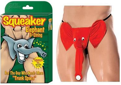 Squeaker Elephant G-String Assorted