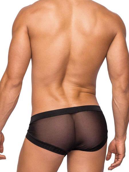 Hoser Stretch Mesh Micro Mini Shorts Medium Black