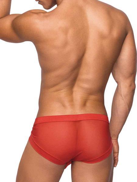 Hoser Stretch Mesh Micro Mini Shorts Small Red