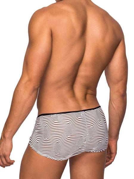 Micro Shorts Tranquil Abyss Black White Large