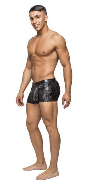 Male Power Insert Shorts Dazzle Black Small