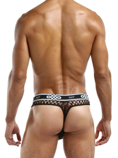 Male Power Peep Show Lo Rise Thong Black L/XL