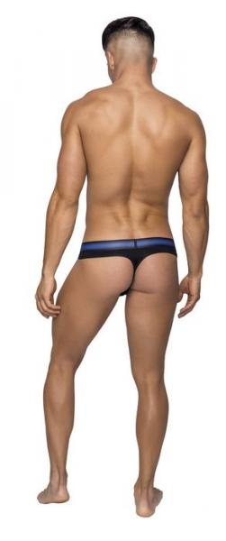 Male Power Pocket Pouch Thong Cavity Black S/M