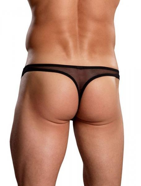 Euro Male Mesh Thong Black S/M