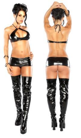 Halter, Mini Skirt, and G Black L/X