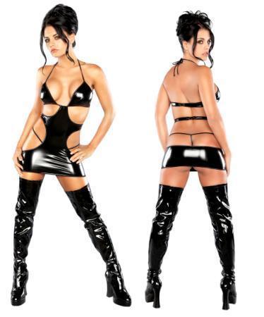 Mini Cut Out Dress/ G-Set Black S/M