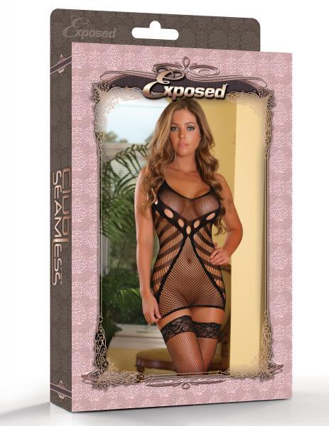 Club Seamless Net Dress Black O/S
