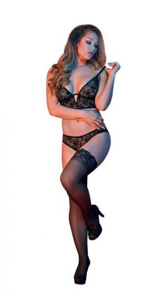 Sexy Time Bralette & Panty Set Black L/XL