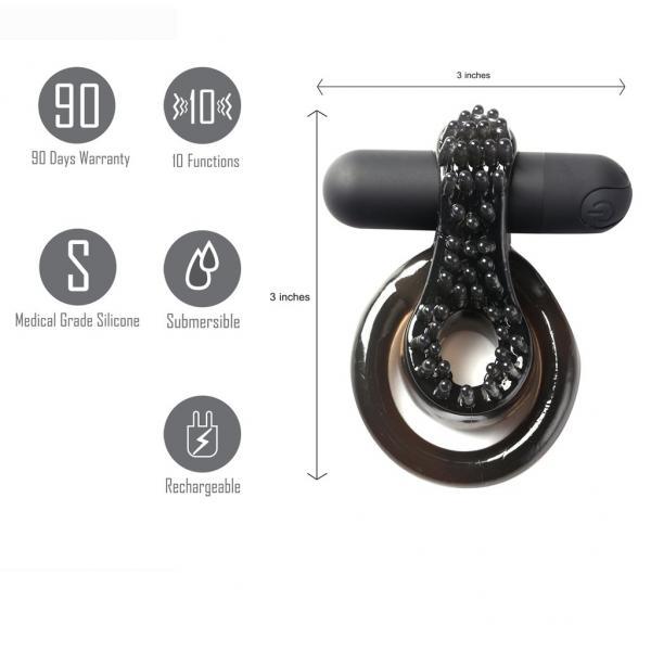 Jagger Vibrating Ring Erection Enhancer Black