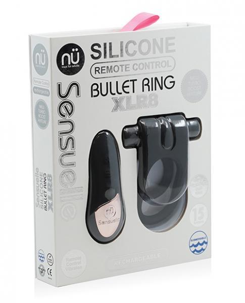 Sensuelle Remote Control XLR8 Turbo Boost Bullet Ring Black