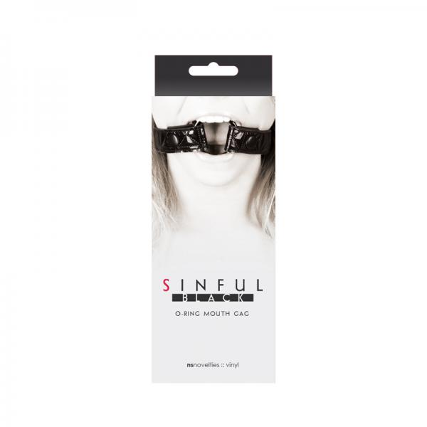 Sinful O-Ring Mouth Gag Black