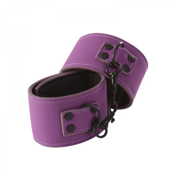 Lust Bondage Wrist Cuff Purple