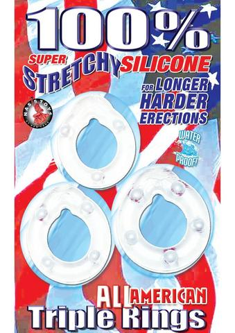 All American Triple Rings - Clear