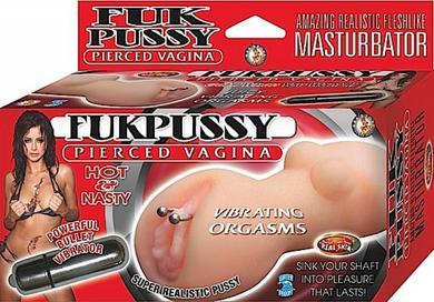 Fukpussy Pierced Vagina Pussy Masturbator With Bullet