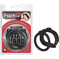 Macho Supreme Stamina Snap On Duo Ring Black