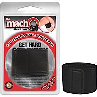 "Macho Velcro Ball Stretcher 1.5"" Black"