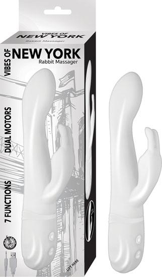 Vibes Of New York Rabbit Massager White