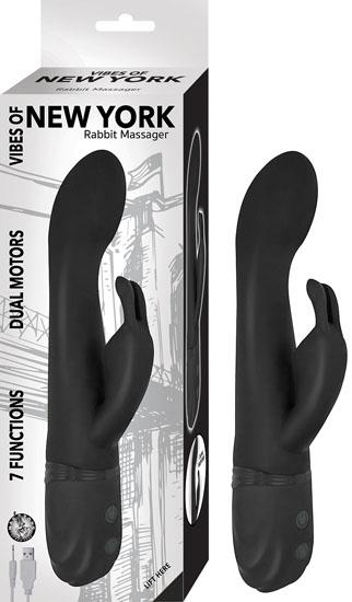 Vibes Of New York Rabbit Massager Black