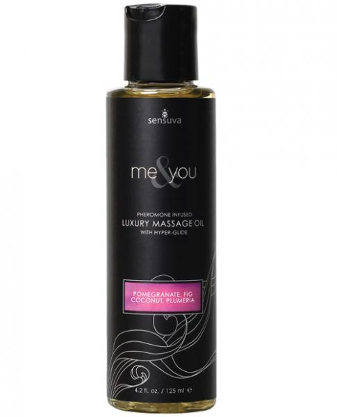 Me & You Massage Oil Pomegranate, Fig, Coconut, Plumeria 4.2oz