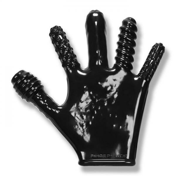 Finger F*ck Textured Glove Oxballs Black
