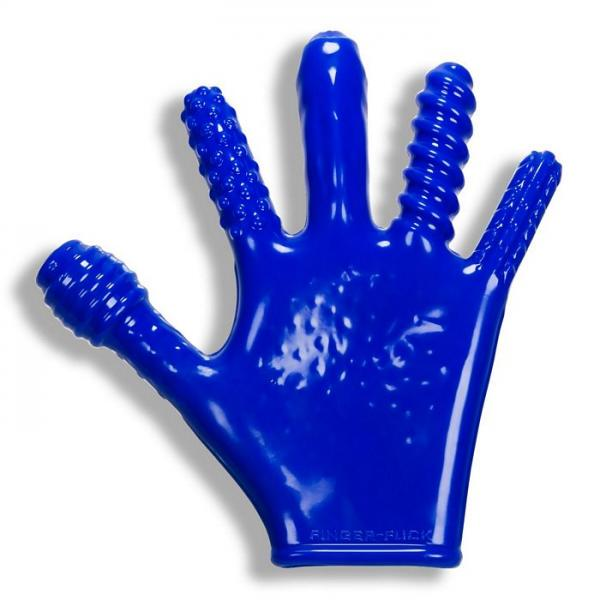 Finger F*ck Textured Glove Police Blue