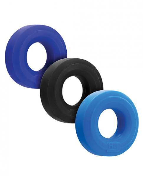 Hunkyjunk Huj C-ring 3pk Blue/ Multi (net)