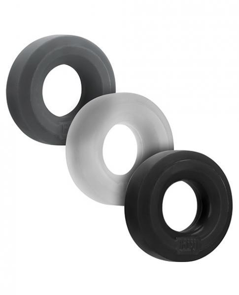 Hunkyjunk Huj C-ring 3pk Tar/ Multi (net)