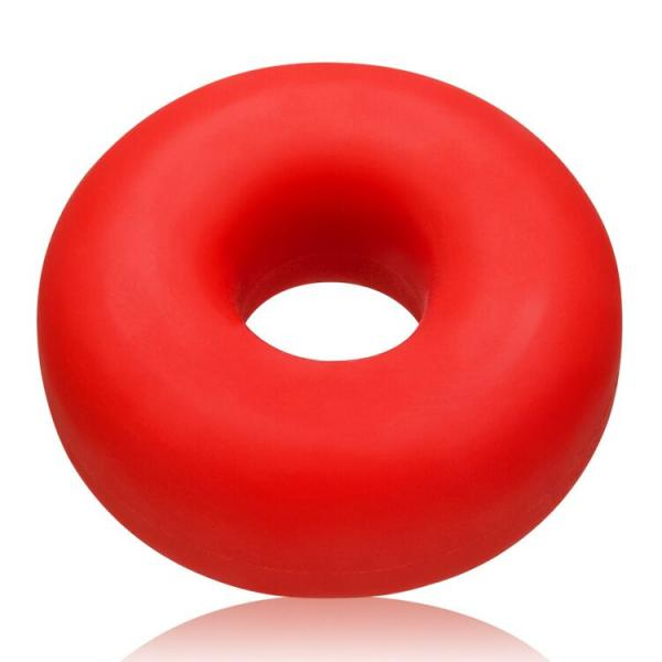 Big Ox Cockring Oxballs Silicone TPR Blend Red Ice