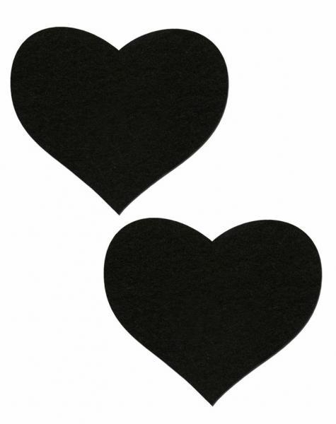 Heart Sweety Hearts Black Pasties O/S