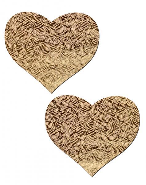Love Liquid Gold Heart Pasties