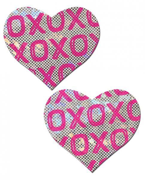 Pastease Shattered Glass Disco Ball Pink White XO Hearts