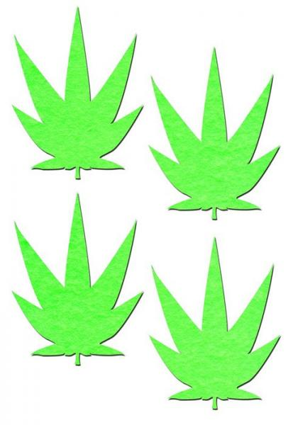 Pastease Petites Small Glowing Pot Leaf 2 Pairs