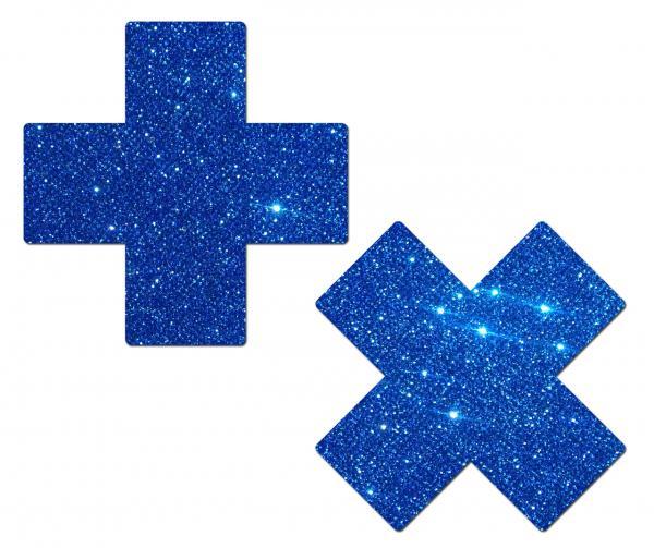 Tease Plus X Glitter Sapphire Cross Pasties