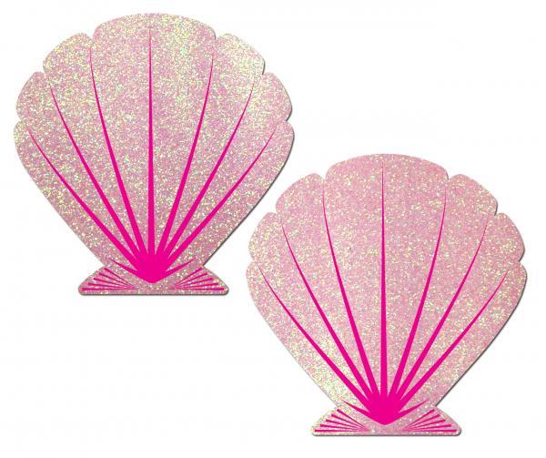 Mermaid Glitter Pink Seashell Pasties O/S