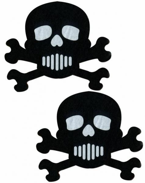 Skull Crossbones Black White Pasites O/S