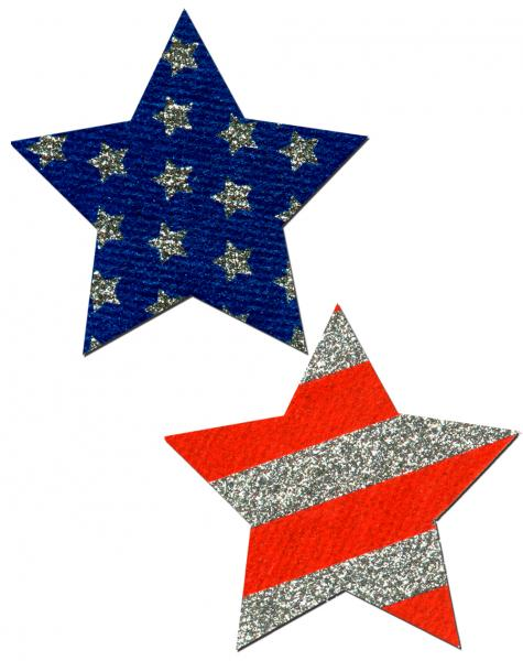 Rockstar Stars & Stripes Red, White, Blue Pasties O/S