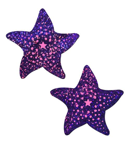 Pastease Twinkling Purple & Pink Starfish O/S