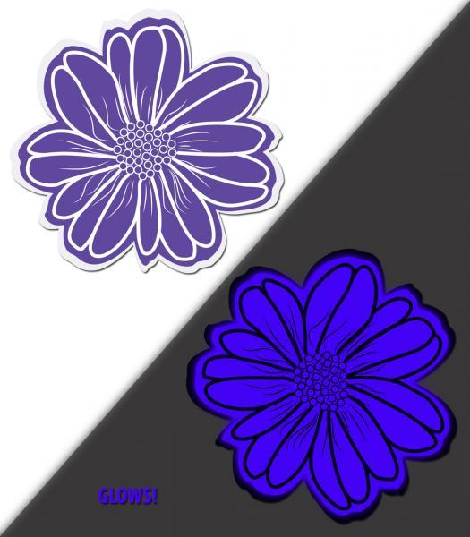 Wildflower Violet Aqua Blue Pasties