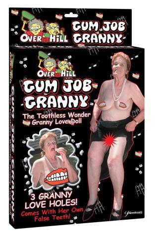 Gum Job Granny Blow Up Doll