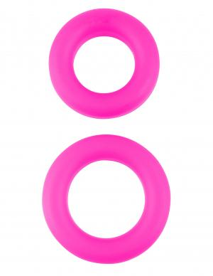 Neon Stretchy Cock Ring Set Pink