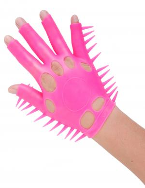 Neon Luv Glove Soft Smooth Ticklers O/S Pink
