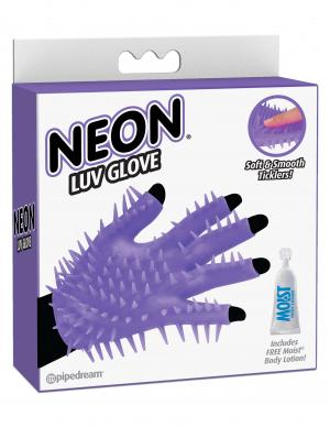 Neon Luv Glove Soft Smooth Ticklers O/S Purple