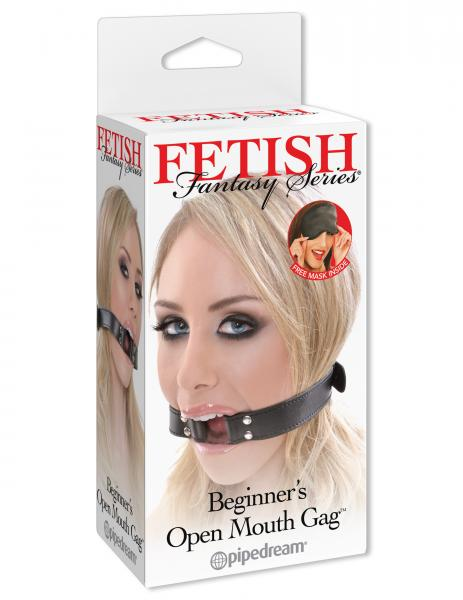 Fetish Fantasy Beginners Open Mouth Gag Black
