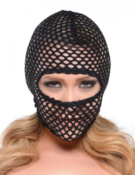 Fetish Fantasy Fishnet Hood O/S Black
