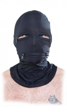 Fetish Fantasy Black Zipper Face Hood O/S