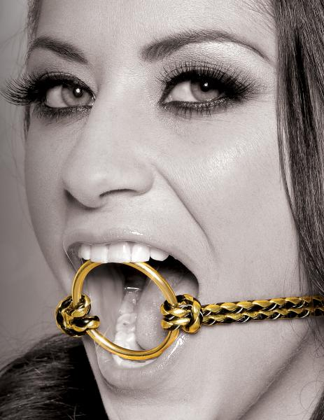 Open Mouth Gag Gold O/S