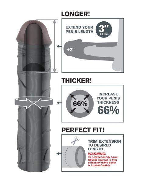 Mega 3 Inch Extension Black