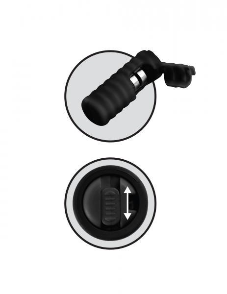 Vibrating Silicone Nipple Lassos Black